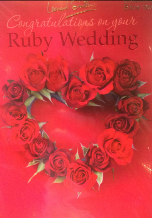 Congratulations on your Ruby Wedding
